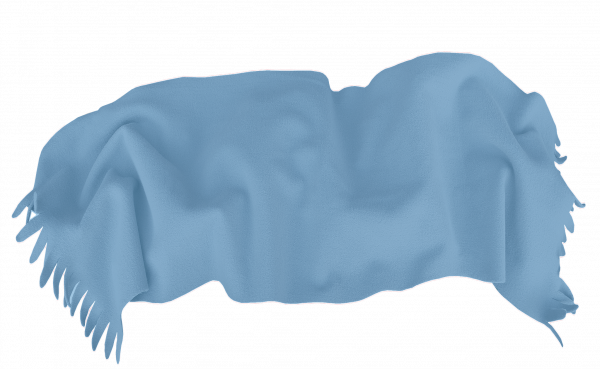 Одеяло Полар 100/150 с ресни синьо