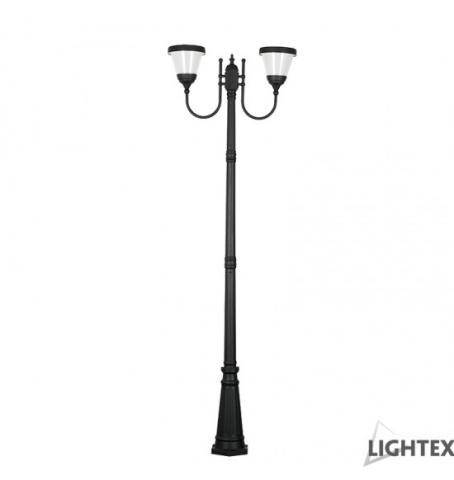 LED соларен градински осветител PIERRE H-2.6м 2x6W 4000K IP65 2