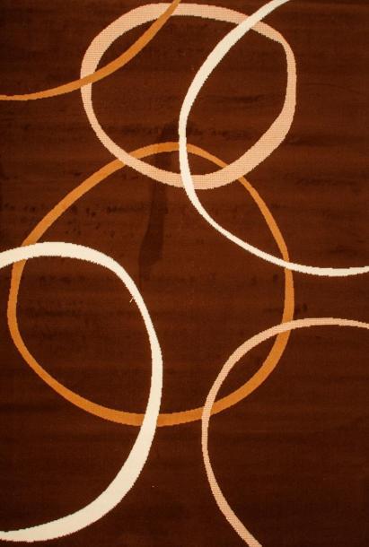 Килим Luna кръгове 1.2x1.7 м кафяв
