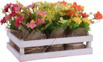 Изкуствени цветя в торбичка