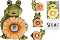 Соларни градински животни с цвете