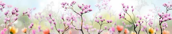 Принт гръб с цветя, код 001