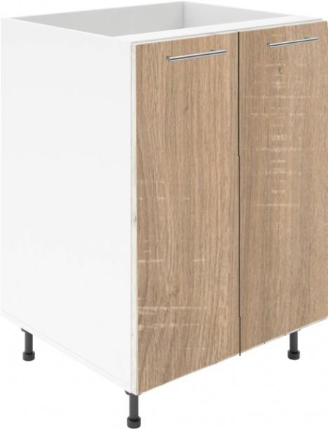 Крафт D6 долен шкаф с две врати (за мивка) 100см, дъб сонома