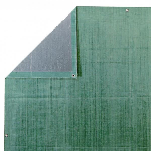 Платнище плътно 4x6м зелено/сребрo