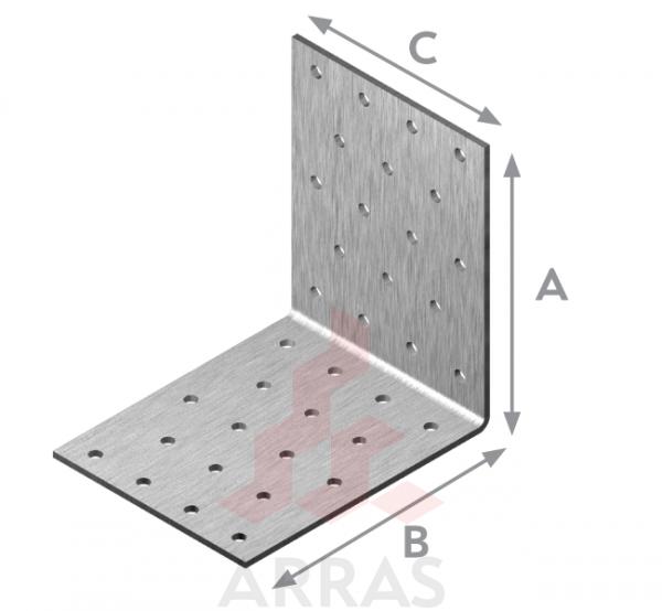 Планка ъглова равнораменна перфорирана 80х80х80х2