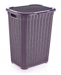 Кош за пране 50 л. лилав
