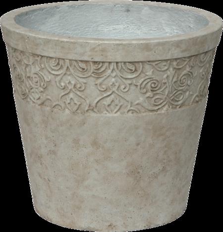 Саксия каменна Ф41,5 Н36 беж