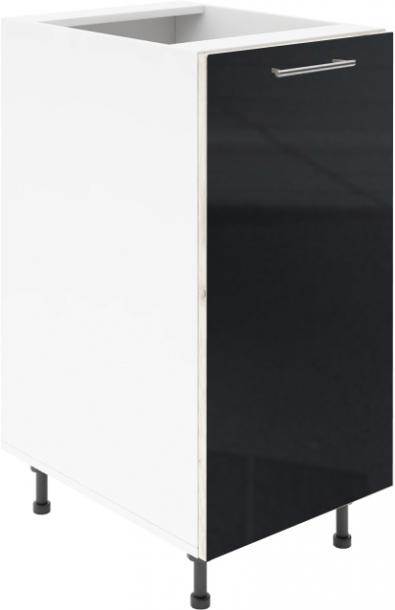 Крафт D1 долен шкаф с една врата 50см, черен гланц