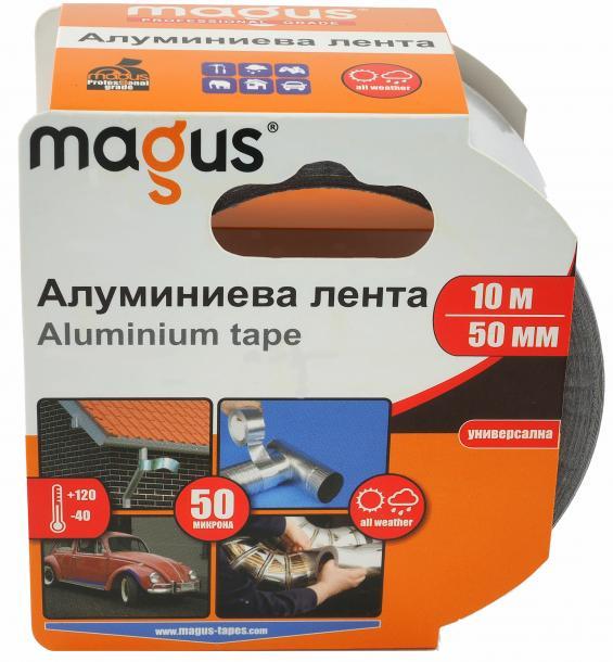Алуминиева лента МАГУС 70 микрона, 10м/50мм