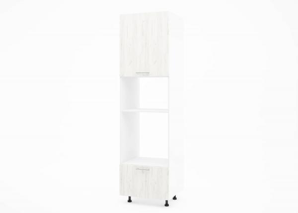 Крафт К2 колонен шкаф за фурна и микровълнова, дъб крафт бял