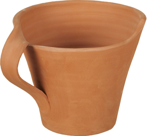 Чаша теракота с изв.дръжка