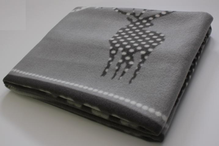 Поларено одеяло LAPONIA сиво 130х170 2