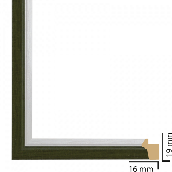 Рамка ПВЦ 18/13 см зелено