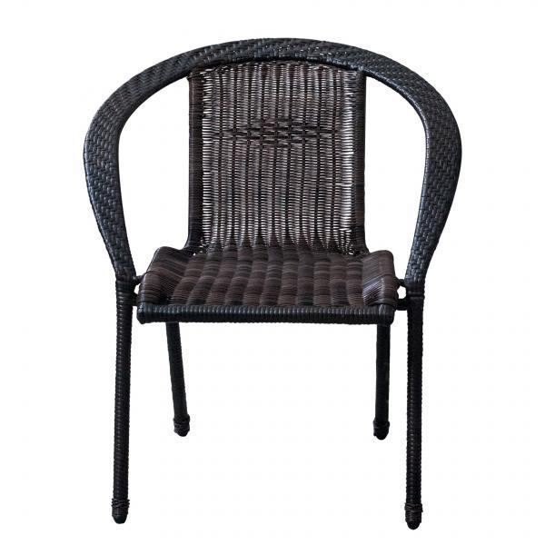 Ратанов стол Marrone, тъмно кафяво