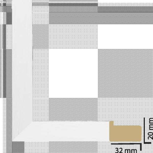 Рамка с паспарту дърво 50х50 см бяло