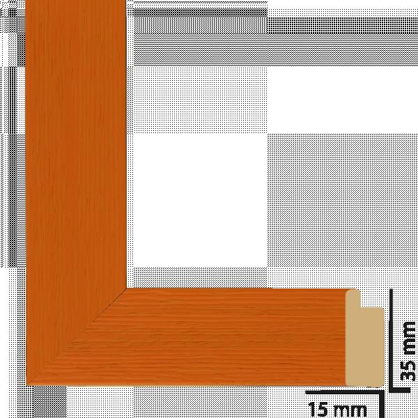 Рамка с паспарту дърво 40х50 см оранжево