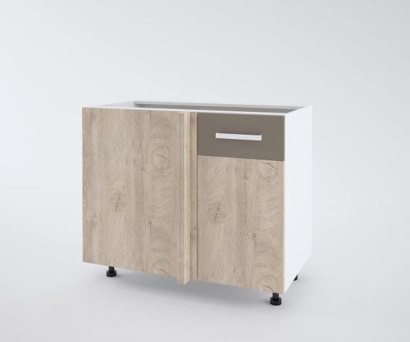 Urban долен шкаф с една врата и мъртво(40+50см) десен, лате