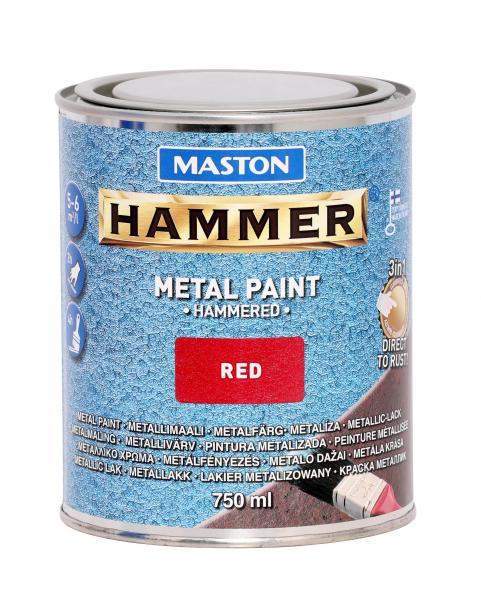 Боя с хамър ефект Maston 3в1 0.75л, червена