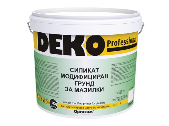 Силикат-модифициран грунд Deko Professional 5кг, бял
