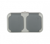 Контакт двоен влагозащитен IP44