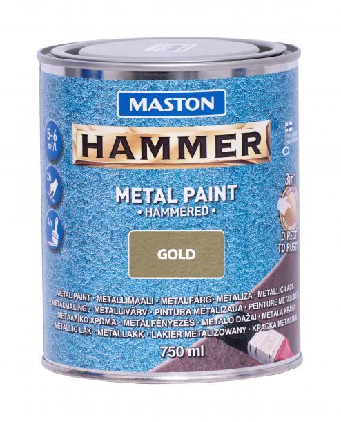 Боя с хамър ефект Maston 3в1 0.75л, златна