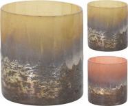 Свещник стъклен 7x7x7,5 см