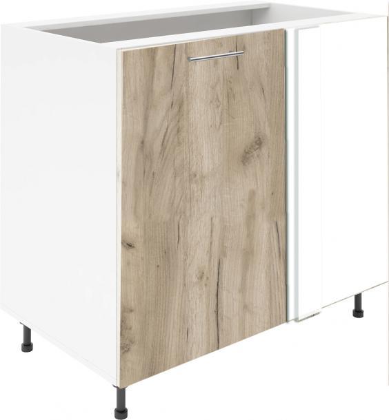 Крафт D7А долен шкаф с една врата и мъртво(300) 50см, дъб крафт сив
