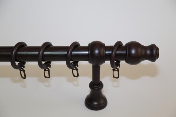 Корниз Ф28 еднорелсов Модел 5 PVC декорация 1.20 м. - венге