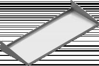 Рафт сгъваем 80х30 бял