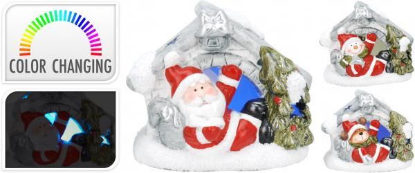 Фигурка LED-къщичка с Дядо Коледа