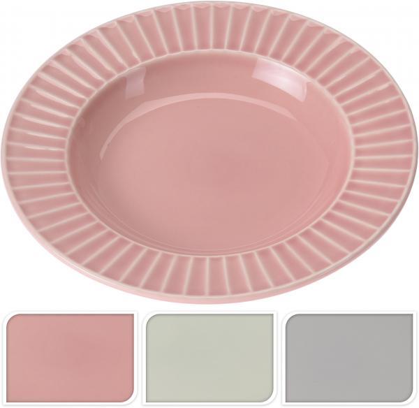 Дълбока чиния 23X5см - 3 цвята