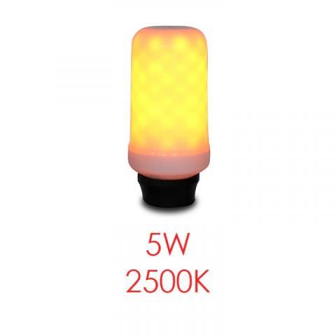 LED крушка с ефект пламък 5W 2500K