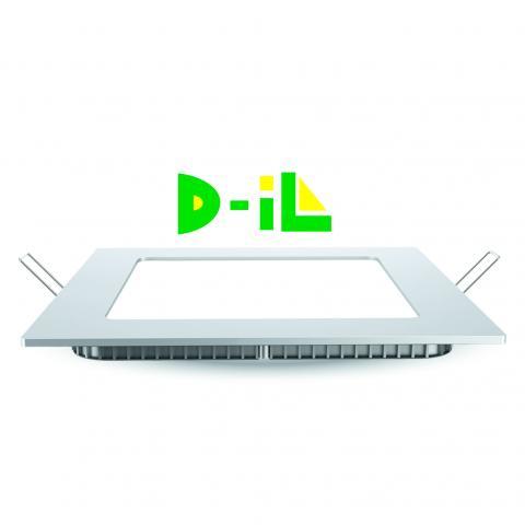 LED панел 6W 4200K 400Lm квадрат/ за вгр./