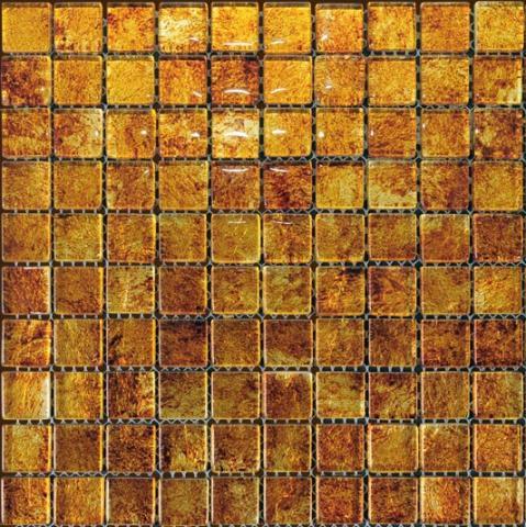Стъклена мозайка златист