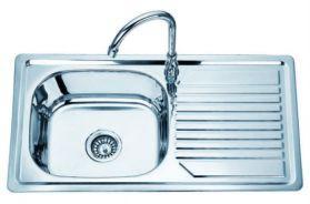 Кухненска мивка  алпака, единична 820х440х160