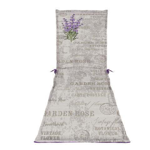 Възглавница за шезлонг Тринити-Лавандула 60х190х5см