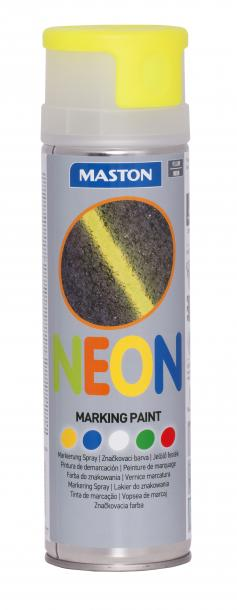 Спрей грунд за маркиране Maston 0.5л, неон жълт