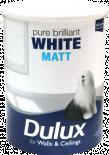 Интериорна боя  DuluxMat 5 л, брилянтно бяла