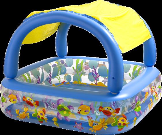 Детски басейн с навес