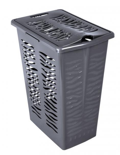Кош за пране Зебра 30 л антрацит
