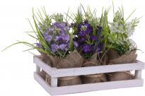 Изкуствени цветя в торбичка, лилави