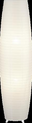 Мира лампион, хартиен, бял