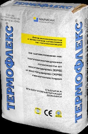 Лепило-шпакловъчна смес Термофлекс бял 25 кг