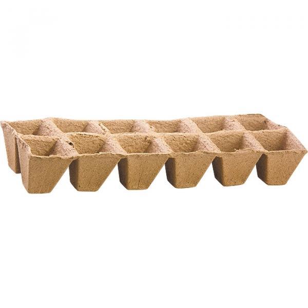 Торфена форма за разсад 12 клетки