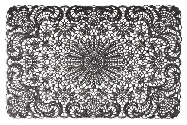 Подложка за хранене Lace 45x30 см черен