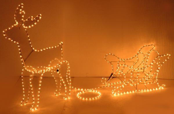 Светещ елен с шейна 14м