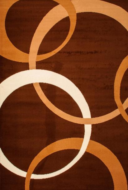 Килим Luna кръгове 2х2.9 м кафяв