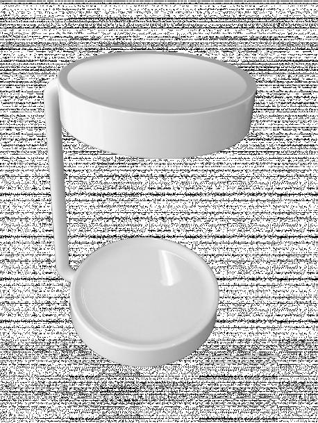 Настолна лампа с огледало,бяла,LED,5W,250Lm,4000К