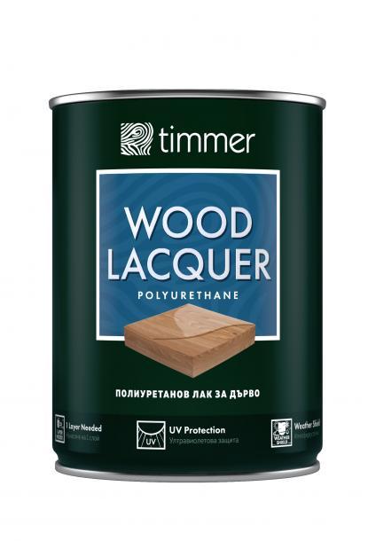 Лак за дърво Timmer 0.75л, гланц