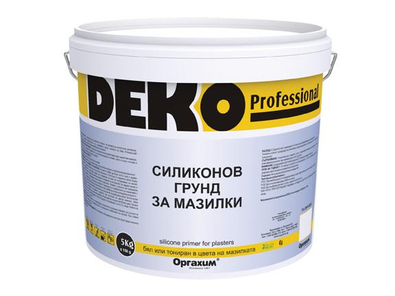 Силиконов грунд Deko Professional 5 кг, трансперантен